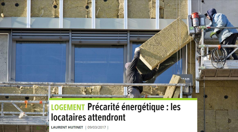 «Précarité énergétique : les locataires attendront»